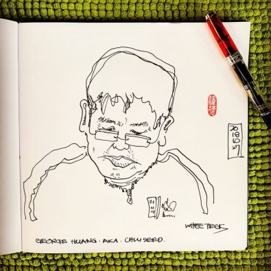 Urban Sketch Portrait by Whee Teck Ong - Doodlewash