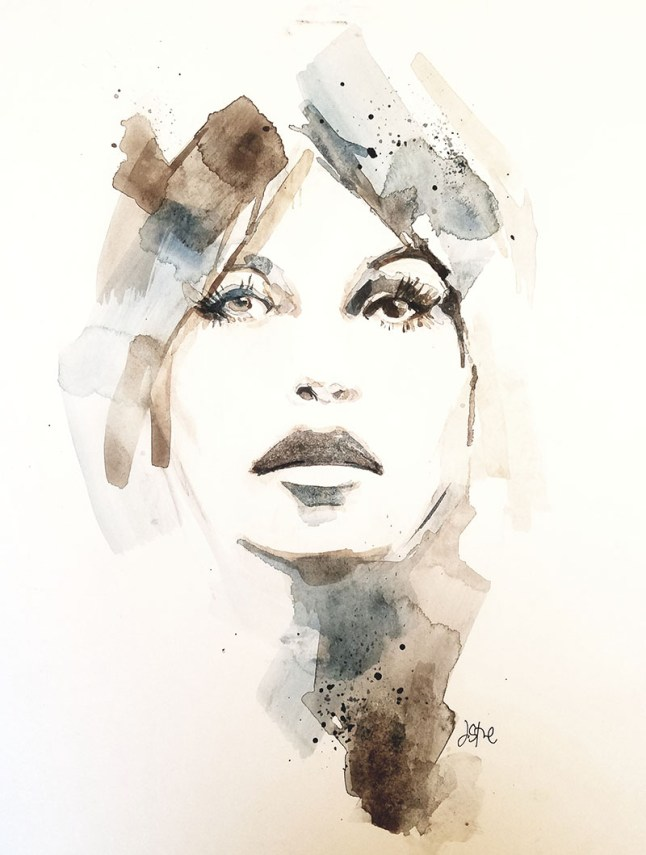 Woman Watercolor By Jeff Stone - Doodlewash