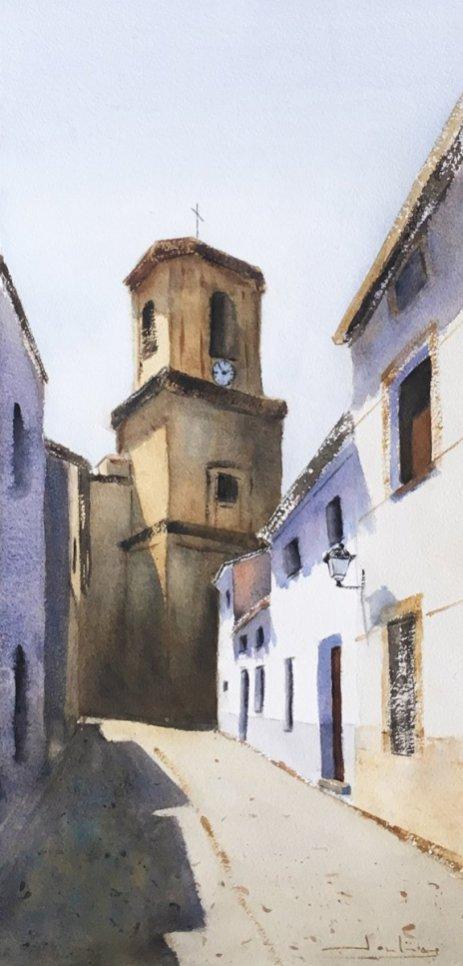 Agudo, Ciudad Real Watercolor by Teresa Santos - Doodlewash