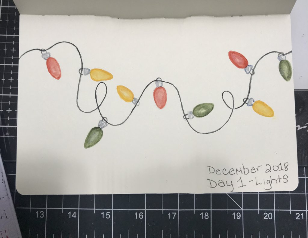 December 2018 challenge day one. I drew Christmas lights. F91B6382-5F9A-4FD7-B0F6-74502727CC32