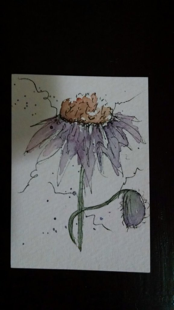 I used this little painting for a decoration on a small sketch book I made a few months ago. IMG_201