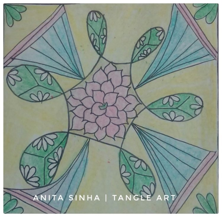 This #dingsplatz is for the weekly ❤I Dare You ❤ tangle art challenge #tangleallaround