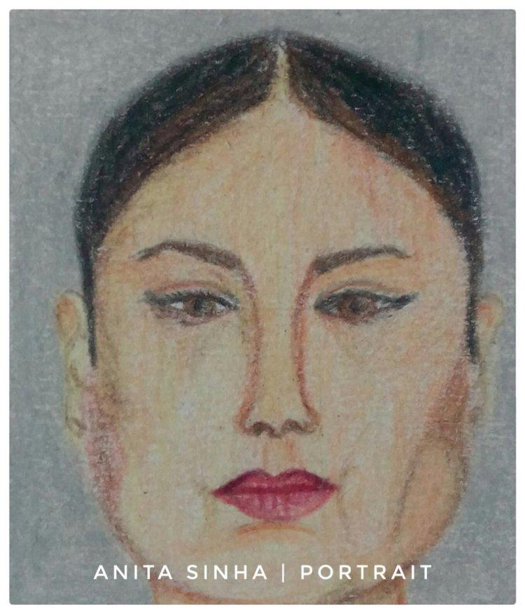 Portrait practice – front face. #doodlewashDecember2018 IMG_20181217_170206_757-01