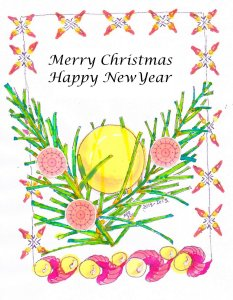 a little christmascard for all of you. Not watercolours but alcoholmarkers, It was difficult to mix