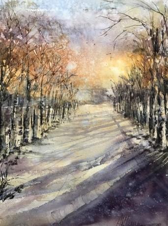Snow Watercolor By Al Kline - Doodlewash