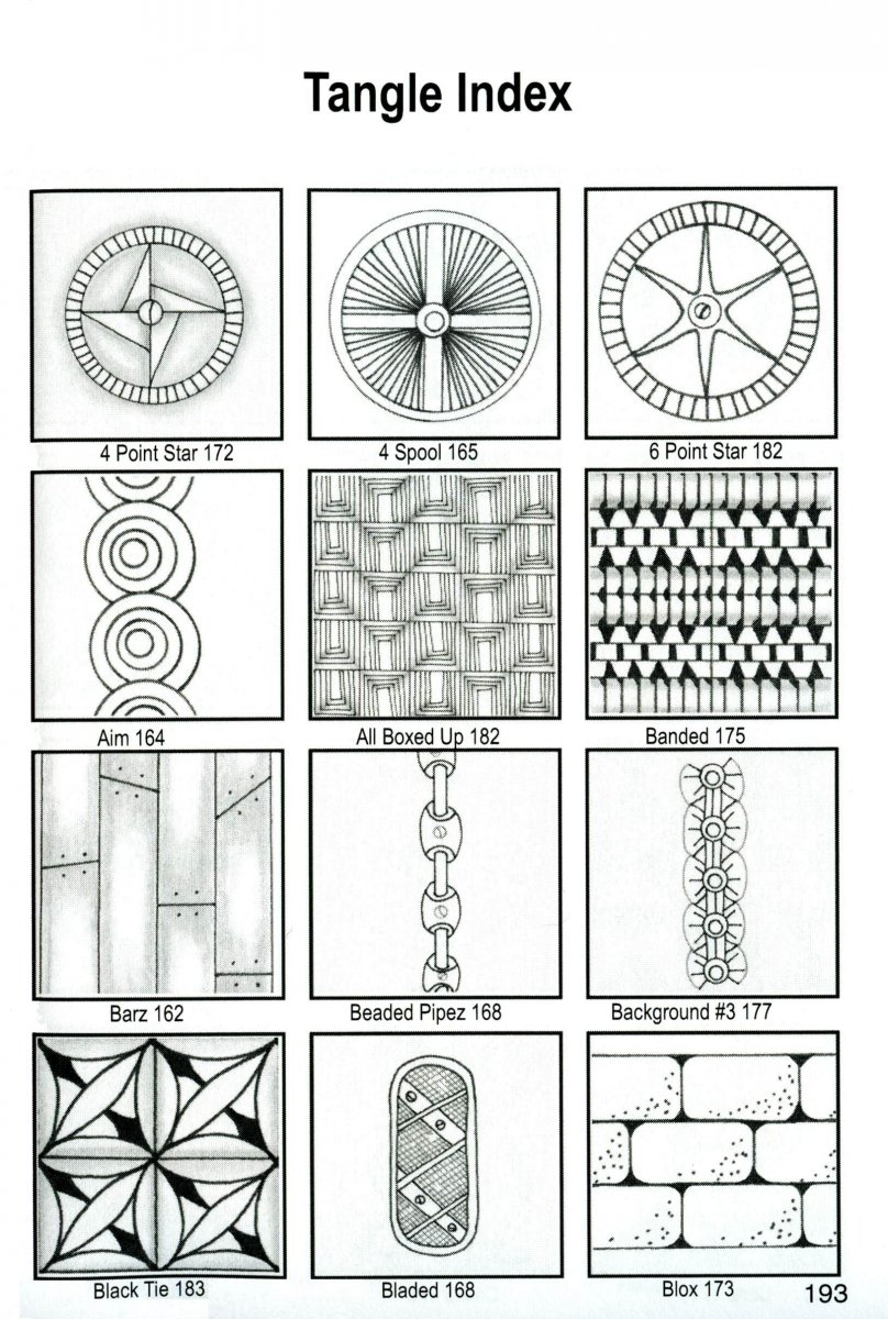 Tangle Index Zentangle Pattern Examples