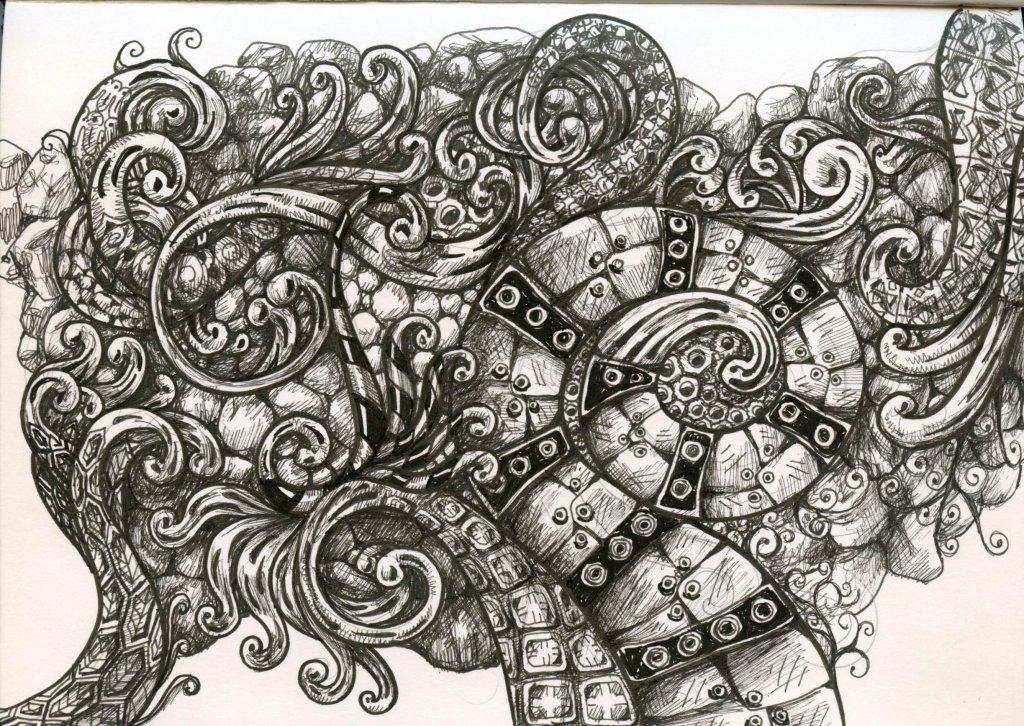 Zentangle Artwork Steampunk by Sandra Strait