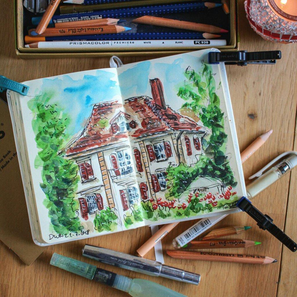Urban Sketchers Sketching Example Dominik Neuffer 03 - Doodlewash