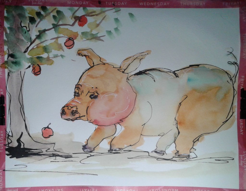 Ginormous pig… or world's smallest apple tree… Lol, this is one reason reference p
