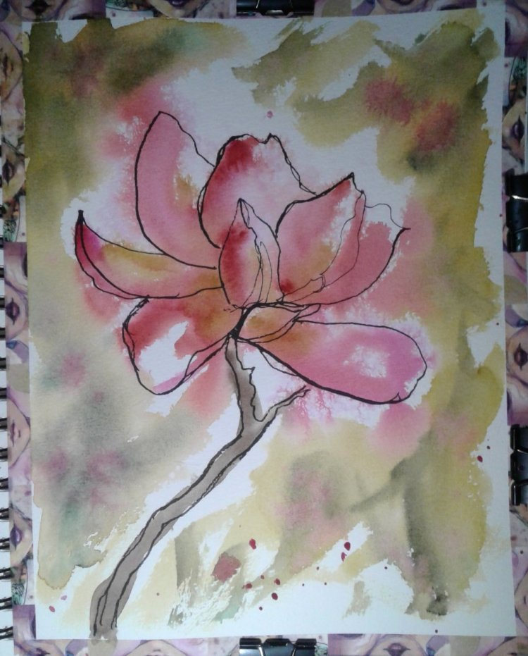 Magnolia blossom… You know it just dawned on me that although I have many painted many flowers