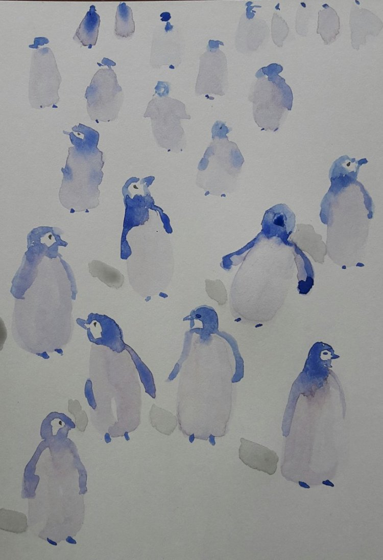 Day 14..Penguins A very quick doodle 20190216_140136