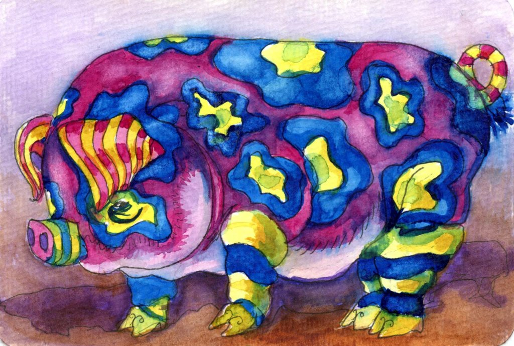 Prompt #Pig. An alebrije pig can be any size you want it, but in real life the Guiness World Record