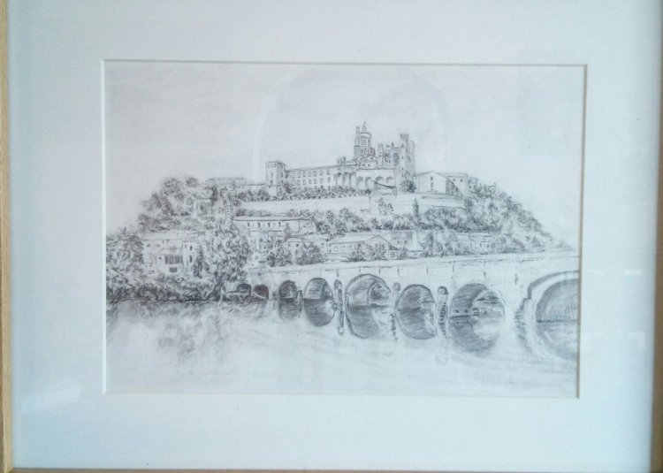 pencil drawing we had been on holiday in France IMG_20190130_094025_548