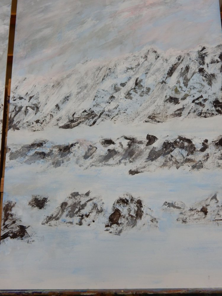 MOUNTAINS PART ONE DONE WITH ACRYLICS MOUNTAINS
