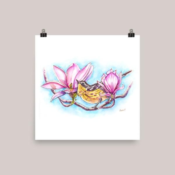 Magnolia Warbler Watercolor Print