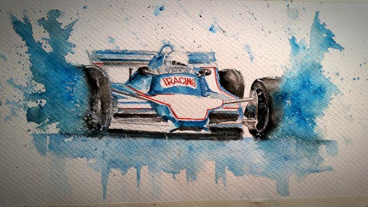 Love Painting Race Cars f1 rain 725
