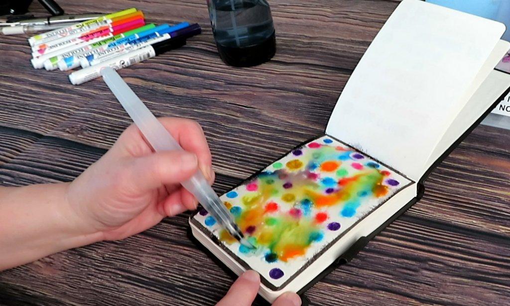 Watercolor Brush Pen Example
