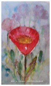 Flower shape painting practice – triangular. #doodlewashMarch2019 #WorldWatercolorGroup #anita