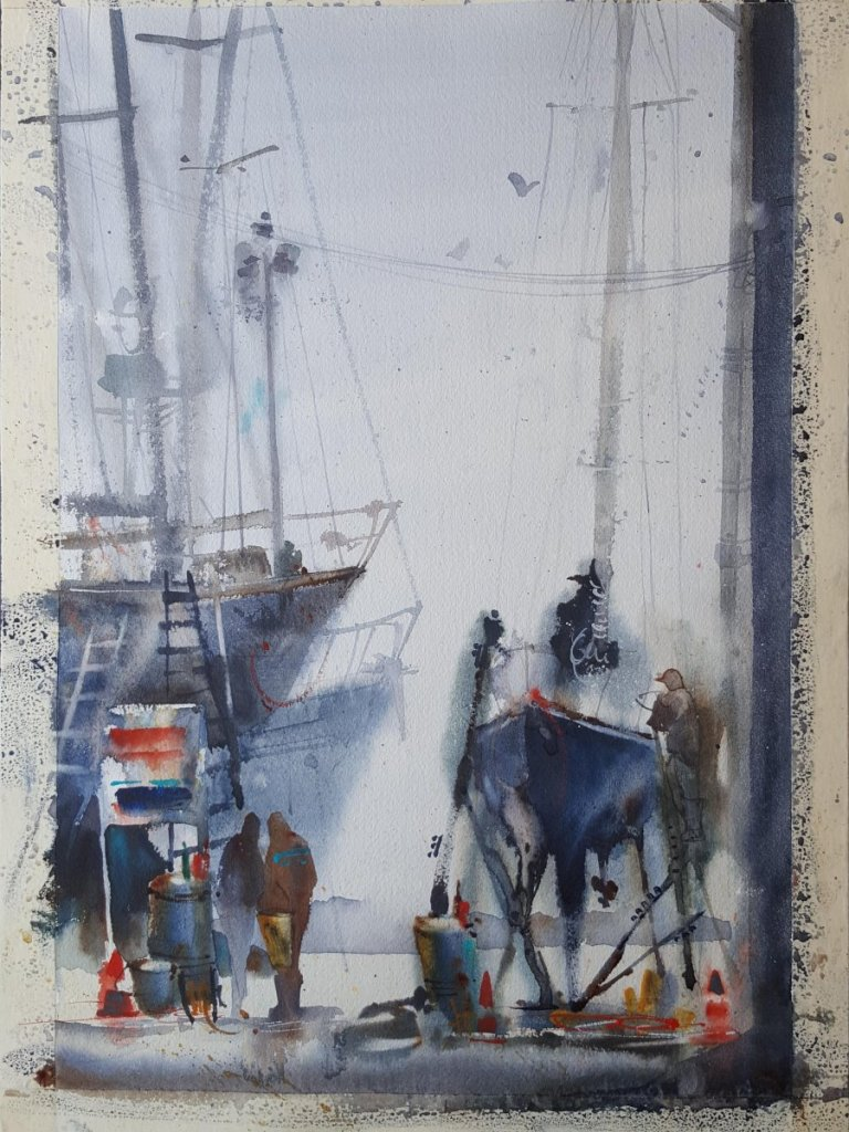 """this is """"Light Work"""" a demonstration painting for a plein air workshop Amanda Brett wate"""