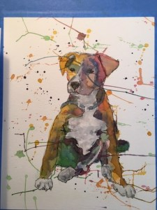 This is a friend of my sister puppy. Boydi watercolor