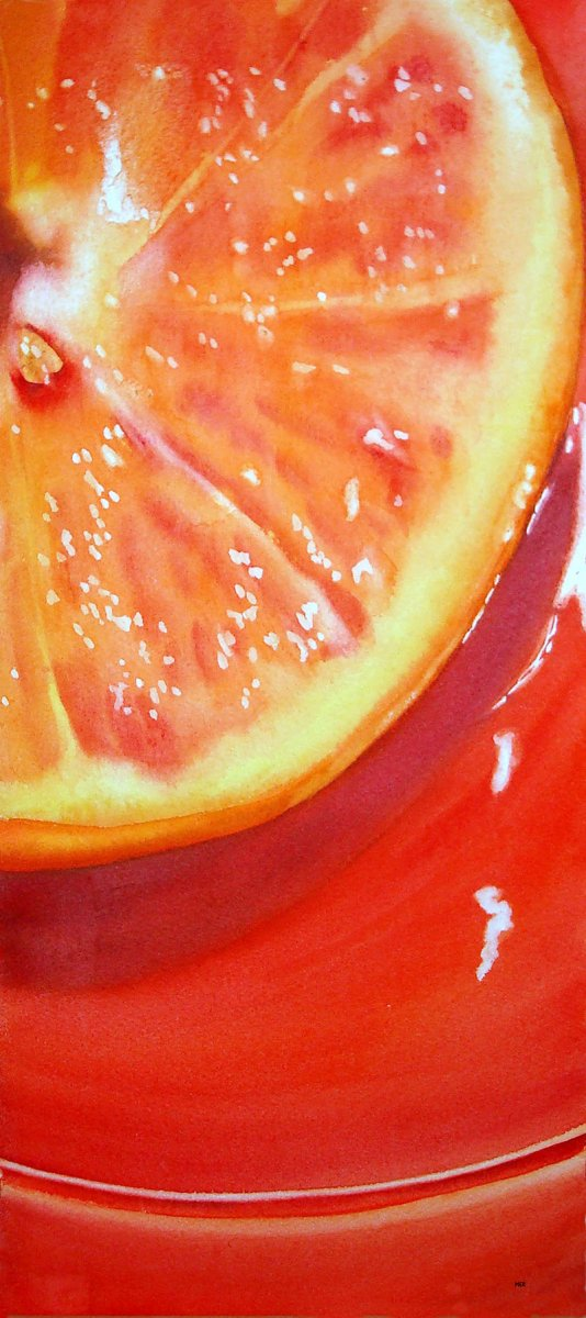 Orange Watercolor Painting by Mary Roff - Doodlewash