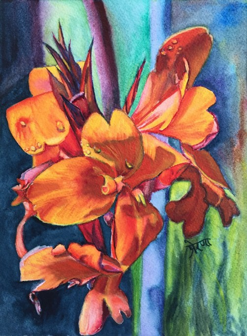 Cana Lily Watercolor Painting by Prerana Kulkarni - Doodlewash