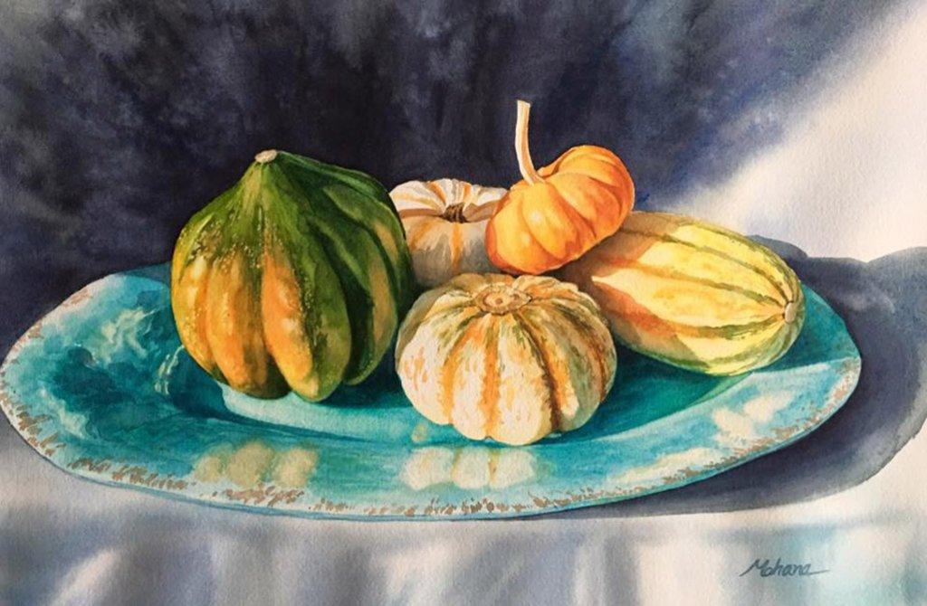 Still Life Watercolor Painting by Mohana Pradhan - Doodlewash