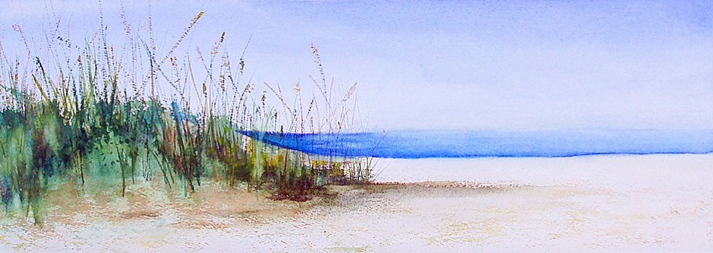 Coquina Beach Watercolor Painting by Mary Roff - Doodlewash