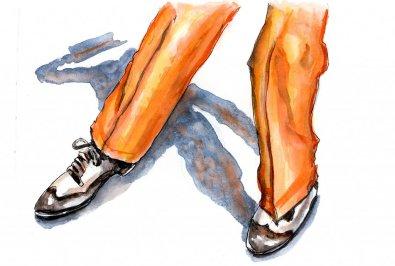 Day 13 - Tap Dancer Watercolor - Doodlewash