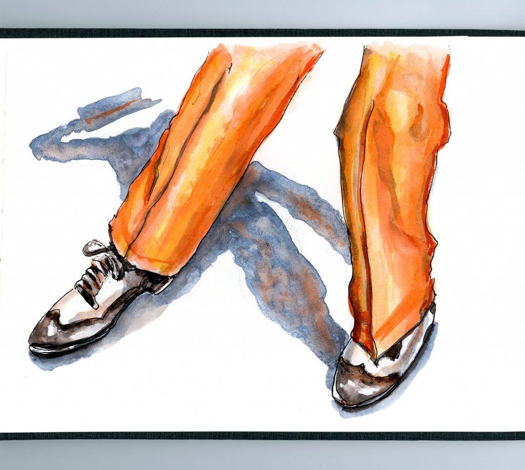 Tap Dancer Watercolor - Doodlewash