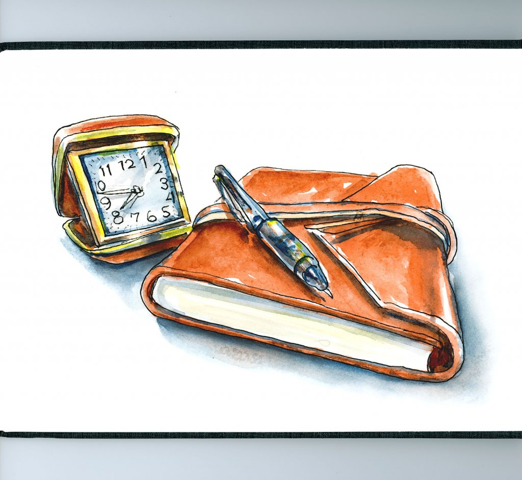 Travel Journal Watercolor Illustration - Doodlewash
