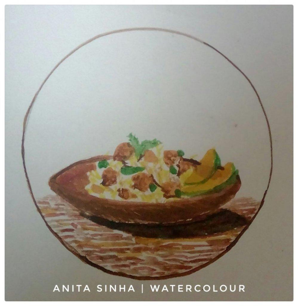 Day 24 -Memorable food – Jackfruit biriyani. #doodlewashMarch2019 #WorldWatercolorGroup #anita