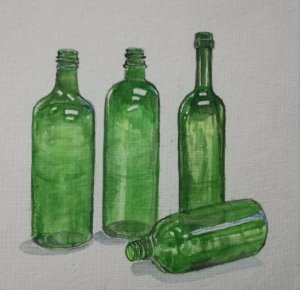 Love for green bottles! My favourite color,also for the prompt 'green things' IMG_201903