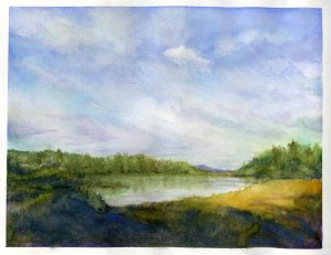 Prompt #View from your Window. This was done from an older photo because the far end of the lake now