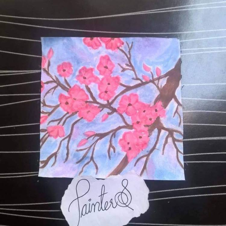 #PainterS #nonstopcreative March : 19 Topic : Something that blooms This is my today's paintin