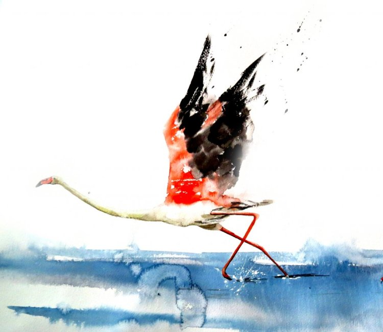 take off into realms of ether! quick watercolor on paper 13 A3- 5