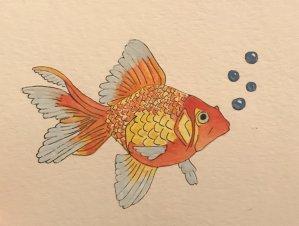 Goldfish – April 5, 2019 #doodlewashApril2019 32CDD5C5-2627-4D4D-B42D-0FF1DCC7412D
