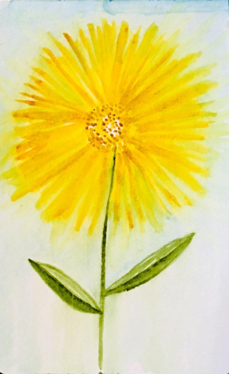 First attempt at watercolor dandelion. A609FD19-6D85-4D52-87CC-5D8F6EF49227