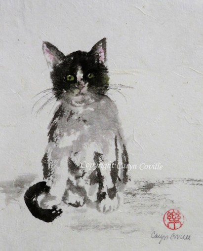 Kitty, Ink & Watercolor - C. Coville - Doodlewash
