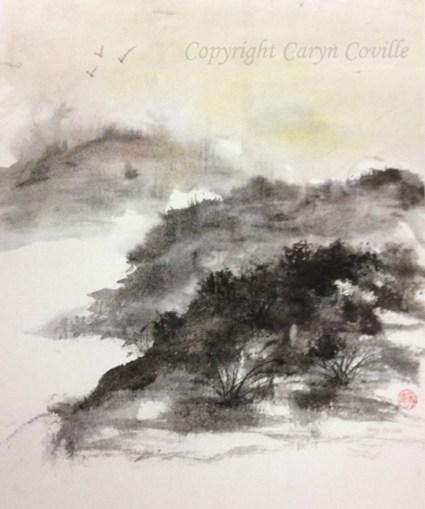 Mossy Knolls, Ink & Watercolor - C. Coville - Doodlewash