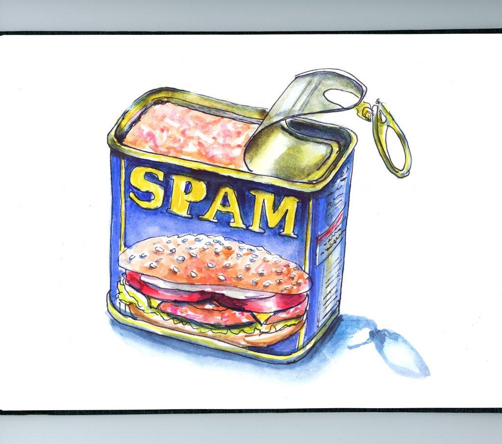 Day 12 - Spam Can Illustration - Doodlewash