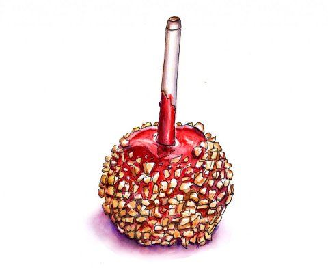 Day 22 - Candy Apple Illustration - Doodlewash