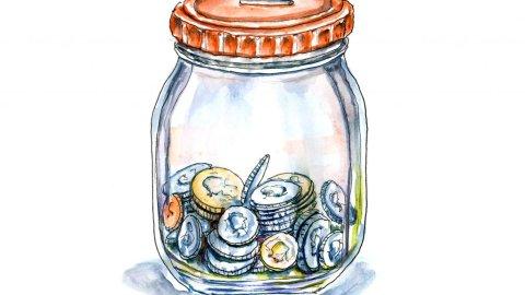 Day 29 - Coin Jar Watercolor Illustration - Doodlewash