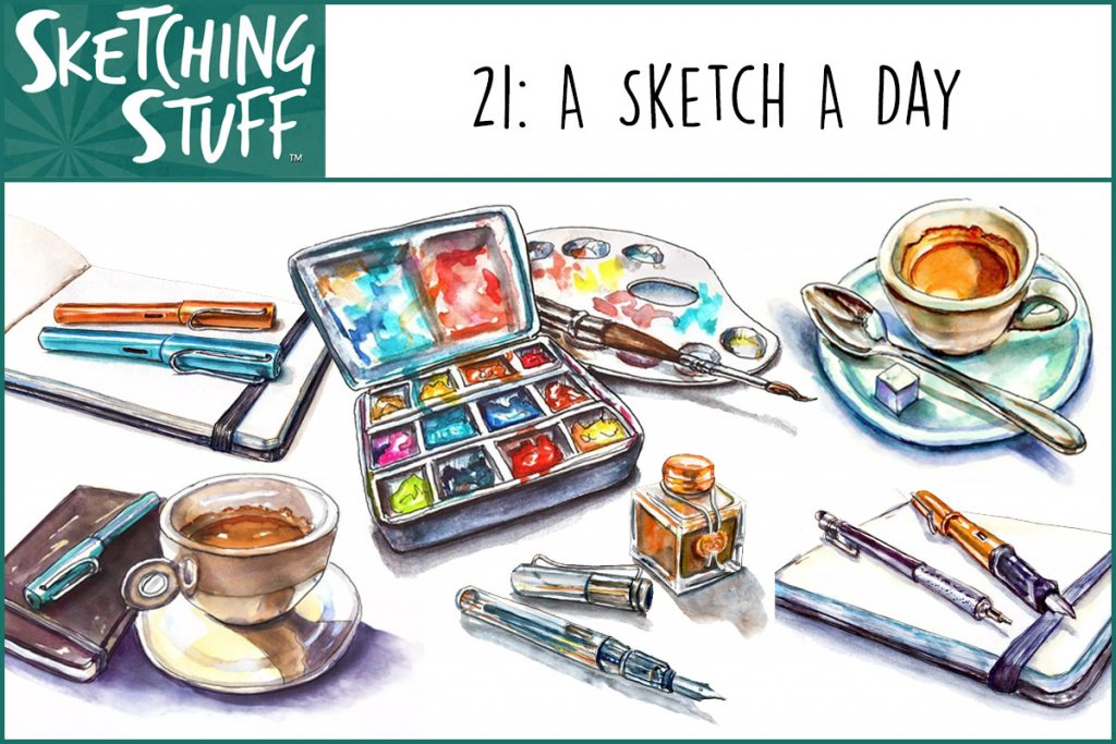 Sketching Stuff Podcast Episode 21 Artwork