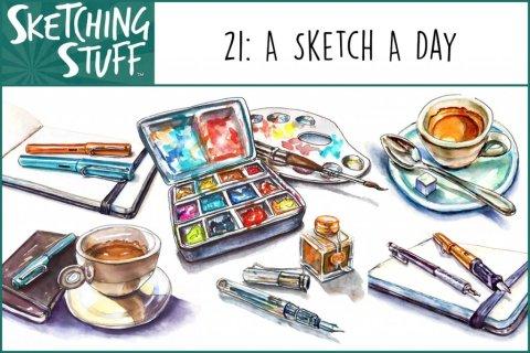 Sketching Stuff Podcast Episode 21 Artwork