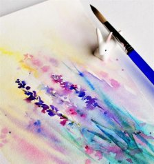 Flowers Watercolor Painting by Qinghong Wei - Doodlewash