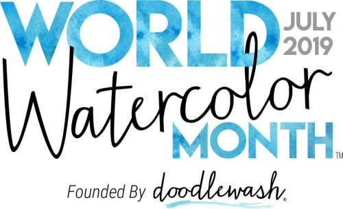 World Watercolor Month July 2019 Doodlewash