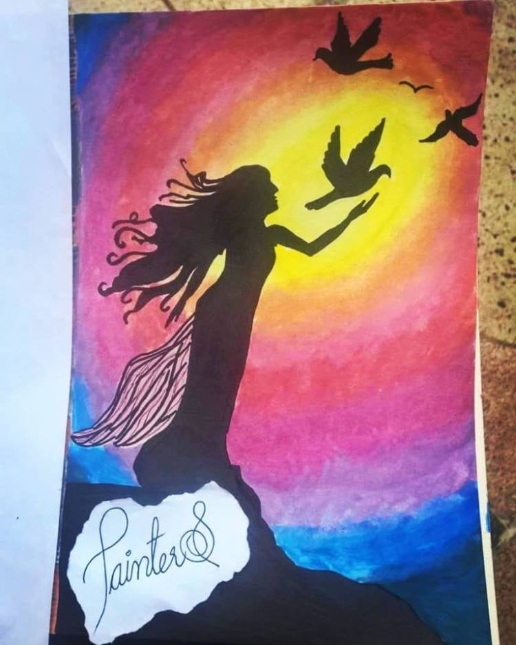 #PainterS #nonstopcreative March : 31 Topic : Fairytale Moment . #doodlewash #doodlewashed #doodlewa