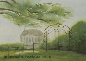 (Behind) the fence. This is inspired by the view on an estate in the east of our country. I have mov