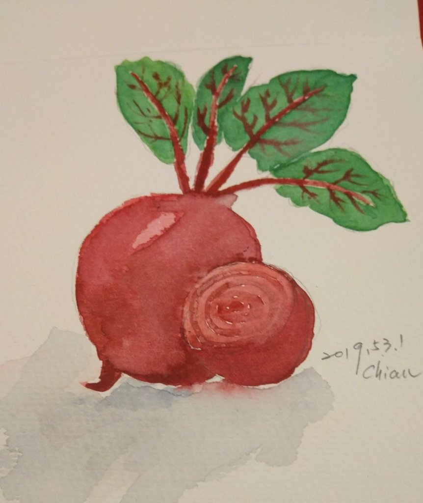 Beet Red For today's prompt. Wow, I finished this month's challenge. 20190531